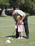 Golf Lesson Stock Photo