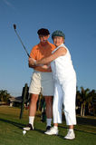 Golf lesson Royalty Free Stock Photography