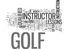 Are Golf Lessons Worth The Price Word Cloud Stock Photography