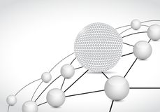 golf link sphere network connection concept Stock Photo