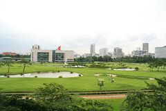 Golf links in a urban city - Bangkok Stock Photos