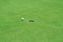 Golf-Loch Stockfoto