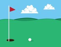 Golf-Loch stock abbildung