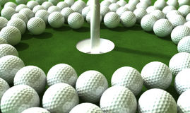 Golf-Loch-Angriff Stockfoto