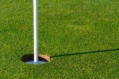 Golf-Loch-Fahrrinne Lizenzfreie Stockfotos