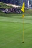 Golf-Loch-Markierungsfahne Stockfotografie