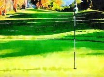 Golf-Loch-Nummer Eins Lizenzfreie Stockfotografie