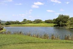 Golf-Loch-Panorama Lizenzfreie Stockbilder