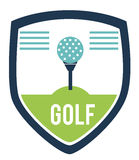 Golf logo design Royalty Free Stock Image