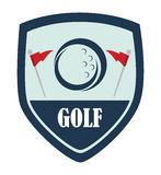 Golf logo design Stock Images