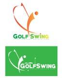 Golf logo set Royalty Free Stock Image
