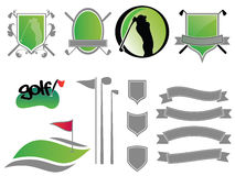 Golf Logos. Collection of golf labels, badges and icons Royalty Free Stock Image