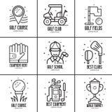 Golf Logotypes en Emblemen royalty-vrije illustratie