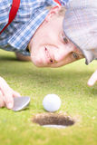 Golf Lunatic Royalty Free Stock Photo
