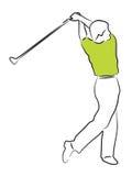Golf Man. Man swinging a golf club Royalty Free Stock Photos