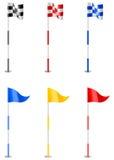 Golf-Markierungsfahnen Stockfotos