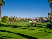 Golf at Marriott Villas, Palm Desert. View of golfing at one of the golf courses at the Marriott Villas Desert Springs on November 14, 2015 in Palm Desert Stock Images