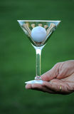 Golf martini 2a Stock Image