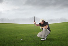 Golf match Royalty Free Stock Image