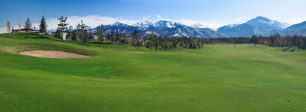 Golf meadow Royalty Free Stock Photo