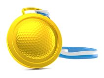 Golf medal. Isolated on white background Royalty Free Stock Photos
