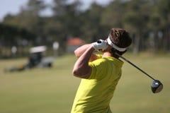 golf men swing Royaltyfria Bilder