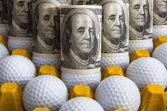 Golf and money Royalty Free Stock Image