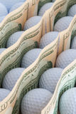 Golf and money Royalty Free Stock Images