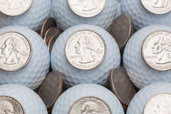 Golf and money Royalty Free Stock Photo