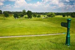 Golf: Nästa utslagsplatspekare Arkivbilder