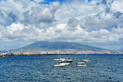 Golf of Naples and Vesuvius, Italy Royalty Free Stock Photo