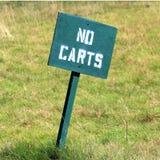 Golf - nessun segno dei carrelli Fotografia Stock Libera da Diritti