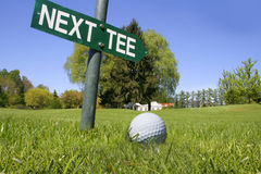 Golf next tee Stock Photography