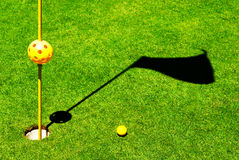 Golf objects. On the grass Royalty Free Stock Photos