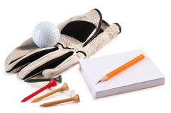 Golf Objects. Isolated Royalty Free Stock Photo