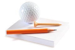 Golf objects. Isolated Royalty Free Stock Photography
