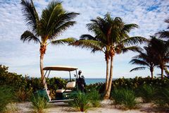 Golf on the ocean in Florida Stock Photography