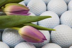 Golf och blommor Arkivfoto