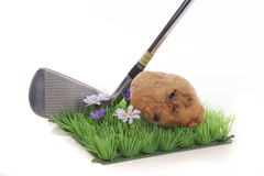 Golf with an oliebol Stock Photo