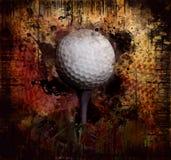 Golf op grunge royalty-vrije stock foto's
