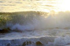 Golf op oceaan Stock Afbeelding
