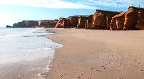 Golf op rode klippen in Dune DE Sud Royalty-vrije Stock Afbeeldingen