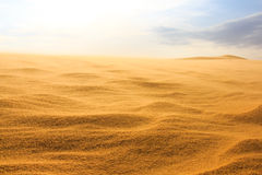 Golf op woestijn royalty-vrije stock fotografie
