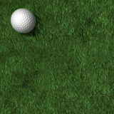 Golf Outing Background. Golf ball on grass seen from above. Lots of space for type or photos stock illustration