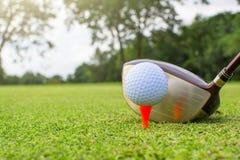 golf på utslagsplats Royaltyfria Bilder