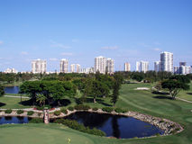 Golf-park. In Florida in the midst of high-rise Stock Images