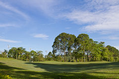 Golf Park. Beautiful golf park in the morning stock photography