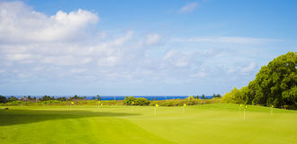 Golf park. Beautiful golf park in summer day in Hawaii, Kauai Stock Photo