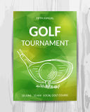 Golf party invitation card. Sport tournament flyer.