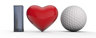 Golf Passion Royalty Free Stock Photography